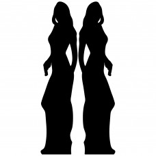 Secret Agent Silhouette Girl Double Pack