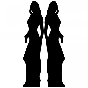 Secret Agent Silhouette Girl Double Pack Cardboard Cutout - $44.95