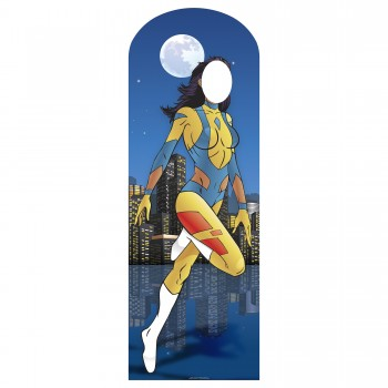 Superhero Female Stand In Cardboard Cutout - $44.95