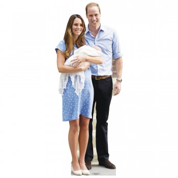 Will Kate and Baby George Cardboard Cutout