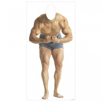 Muscle Man Cardboard Cutout - $44.95
