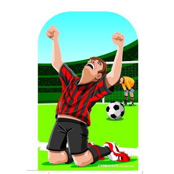 Child Football Soccer Stand In Cardboard Cutout - $44.95
