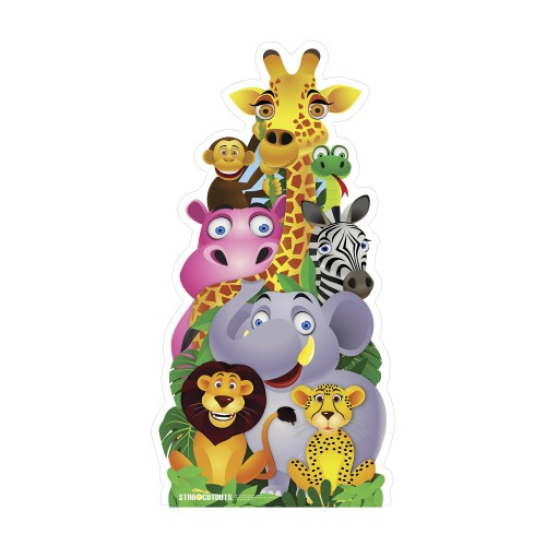 Jungle Pile Up Cardboard Cutout