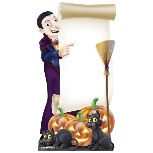 Halloween Sign Cardboard Cutout