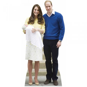 William Kate and Baby Charlotte Cardboard Cutout - $44.95