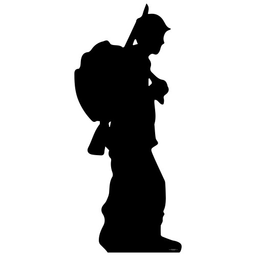 Soldier Silhouette Cardboard Cutout