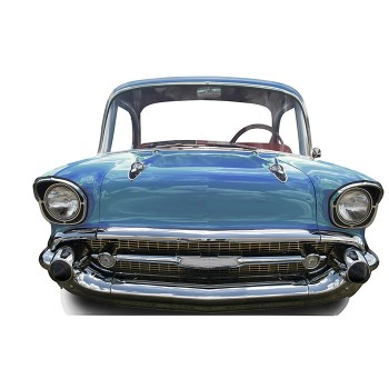 Blue Car Small Stand In Cardboard Cutout - $44.95
