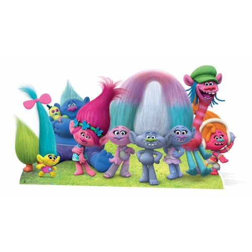 Trolls Group Cardboard Cutout