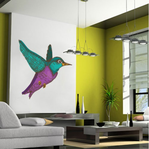 Humming Bird Wall Decal