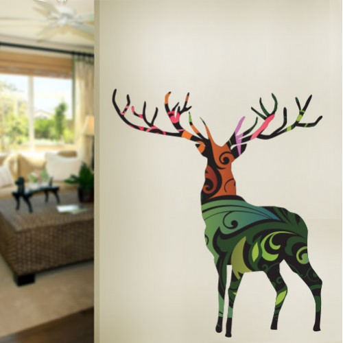 Deer Pattern Wall Decal