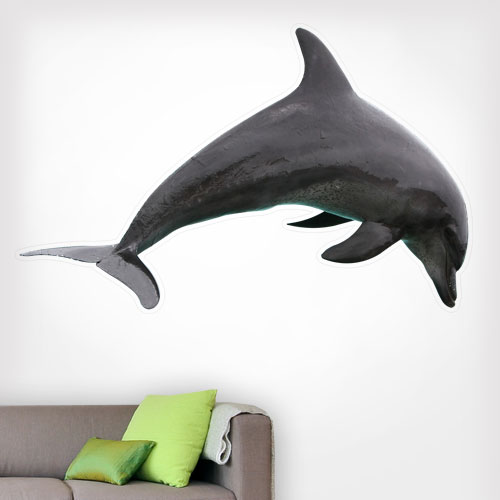 Dolphin Jumping Wall Decal