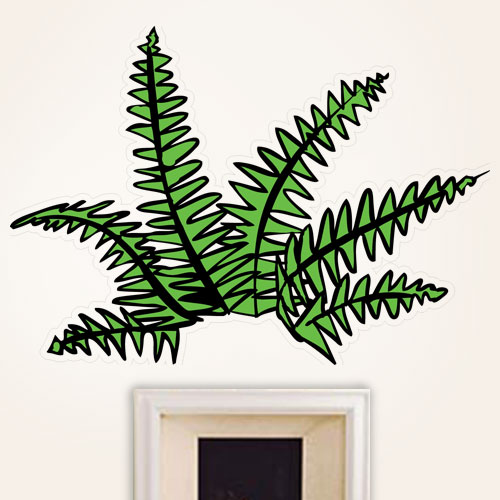 Cartoon Fern Wall Decal