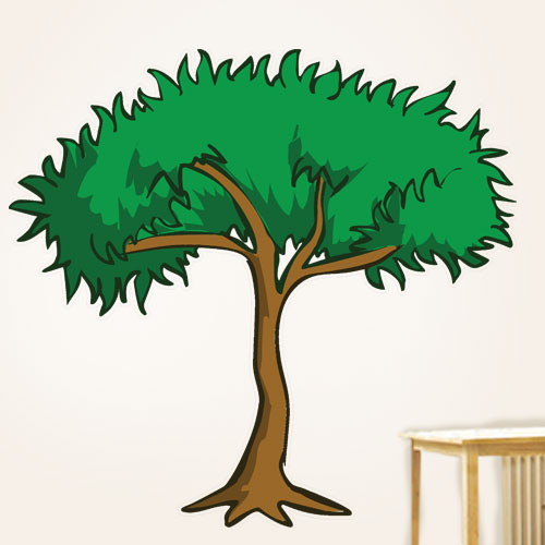 Cartoon Jungle Tree Wall Decal