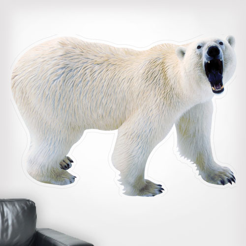 Polar Bear Growling Wall Decal