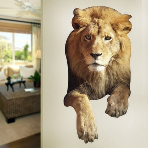 South African Male Lion Front Wall Decal
