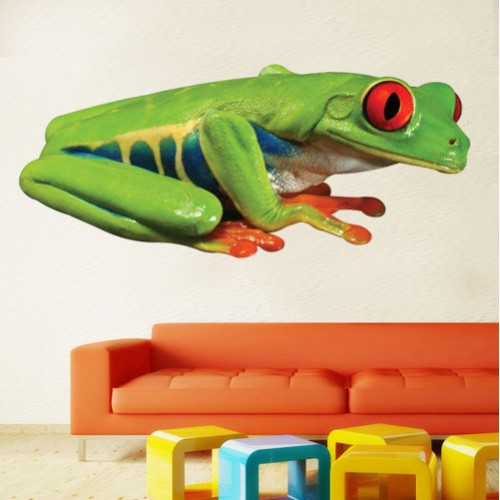 South American Red Eyed Tree Frog Wall Decal