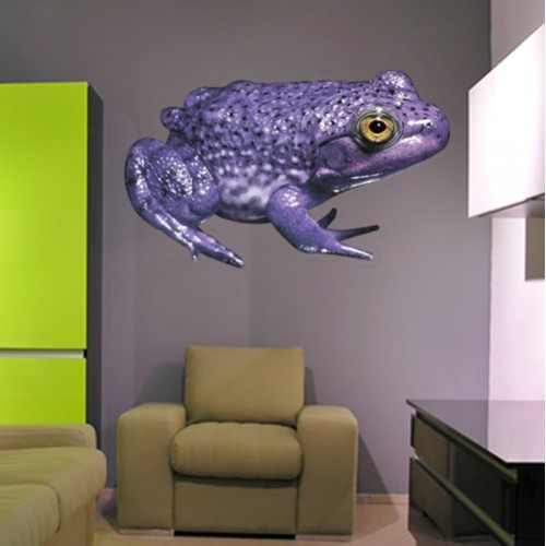 Purple Pignose Frog Wall Decal