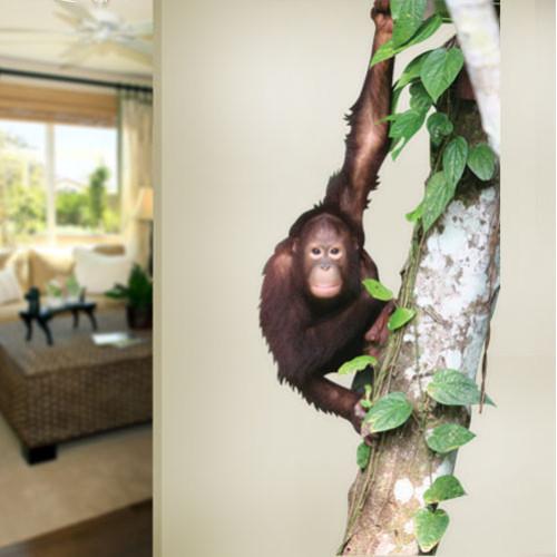 Orangutan Hanging in a Tree Wall Decal