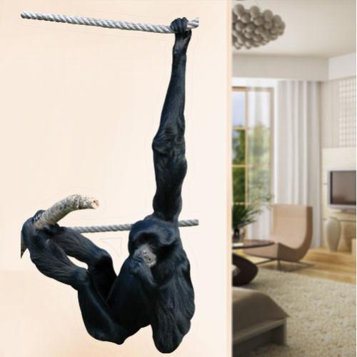 Gibbon Swinging Wall Decal