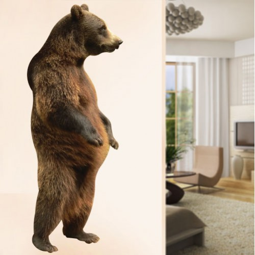 Grizzly Bear Standing Wall Decal