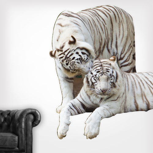 White Tigers Wall Decal