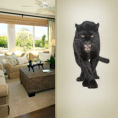 Panther Roaring Wall Decal