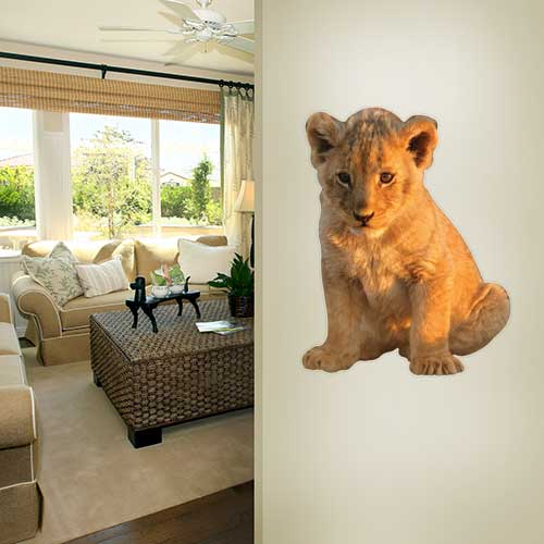 African Lion Cub Wall Decal