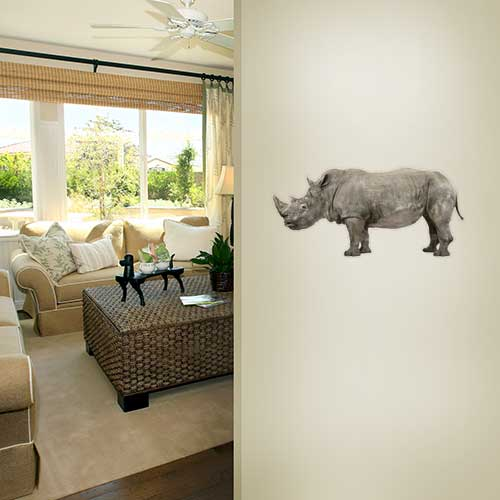 Rhino With Baby Wall Decal