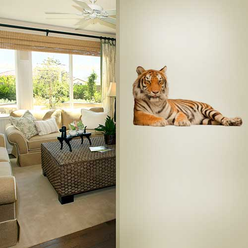 Smiling Tiger Wall Decal