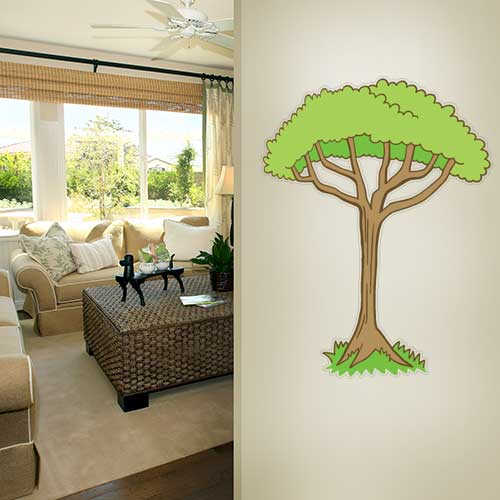 Cartoon Jungle Tree 2 Wall Decal
