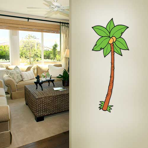 Cartoon Palm 5 Wall Decal