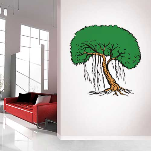 Tree with vines Wall Decal