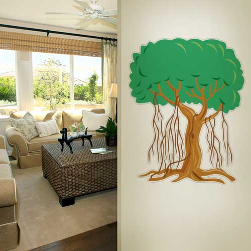 Tree vines 2 Wall Decal