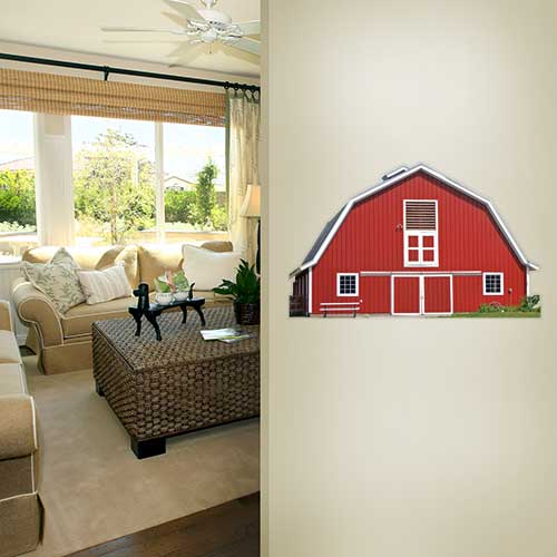 Red Barn Wall Decal