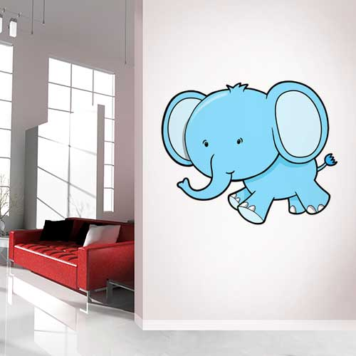 Baby Elephant Wall Decal