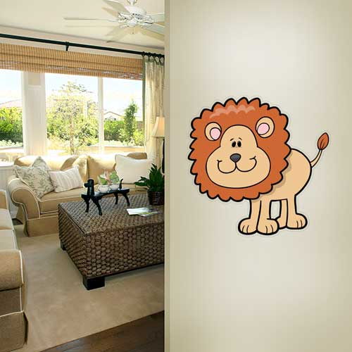 Disco Lion Wall Decal
