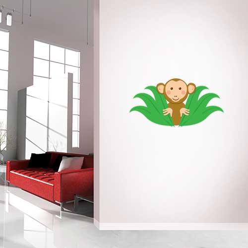 Monkey Peaking Wall Decal