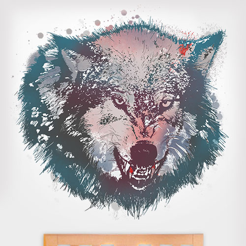 Insanity Wolf Wall Decal