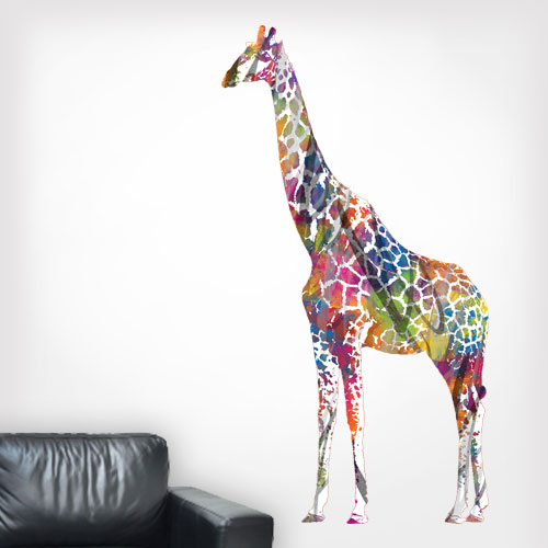 Giraffe MultiColored Wall Decal