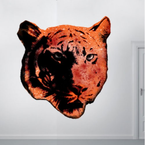 Tiger Spray Paint Wall Decal