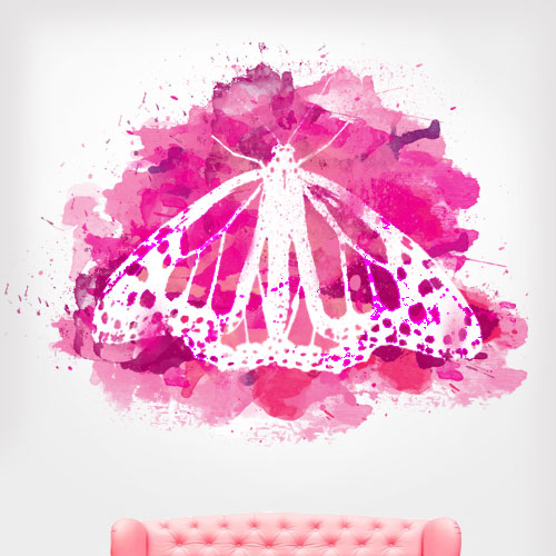 Watercolor Butterfly Wall Decal
