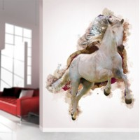 Watercolor Horse Running Wall Decal