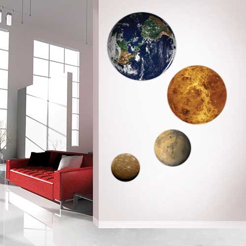 Inner Planets Wall Decal