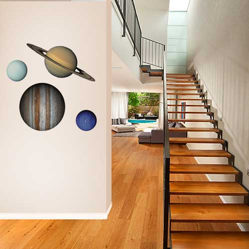 Gas Giant Planets Wall Decal