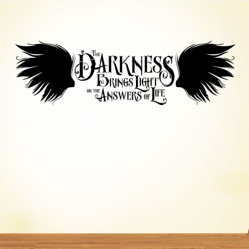 View Product The Darkness Brings Wall Decal