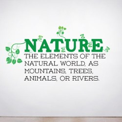 Nature Defined Wall Decal