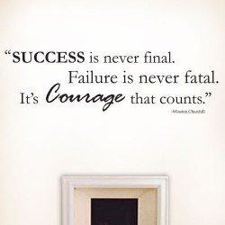 Success Failure Courage Wall Decal