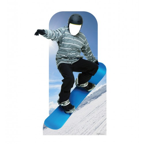 Snow Boarding Cardboard Cutouts