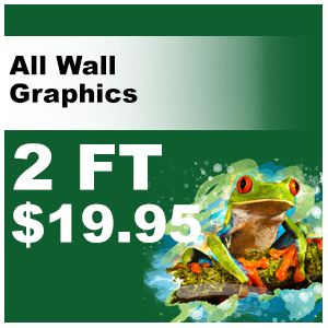 2ft Animal decal pricing