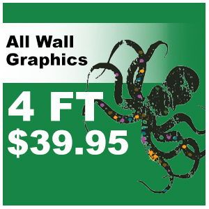 4ft Animal decal pricing
